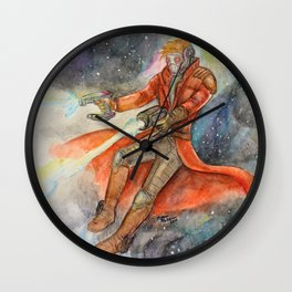 Star-Lord Watercolor Wall Clock