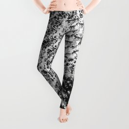 Griswold Christmas Tree - Black And White Leggings