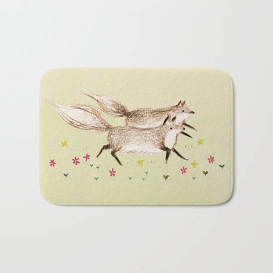 Running Foxes Bath Mat