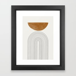 Minimalist Space Framed Art Print