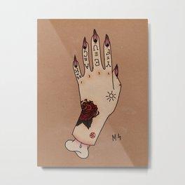 Tattooed Hand Metal Print
