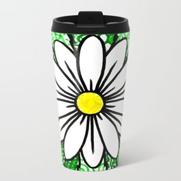 Daisy pattern Metal Travel Mug