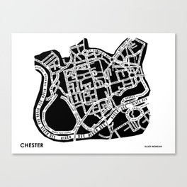 Chester Street Map Canvas Print