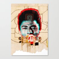 the godfather Canvas Prints featuring Godfather by Marko Köppe