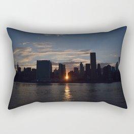 Manhattan From Queens Rectangular Pillow