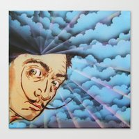 dali Canvas Prints featuring Dali by Kevin Rogerson