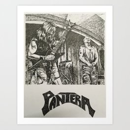 Hard rock band Art Print