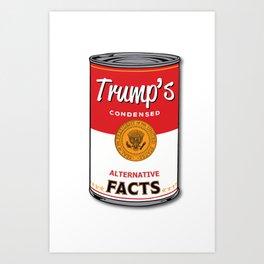 Trump's Canned Goods Art Print