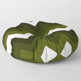 olive chevron Floor Pillow