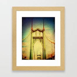 St. John's Bridge Portland Oregon Framed Art Print