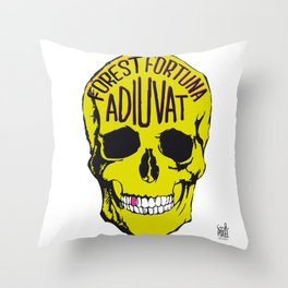 Fortune Favours The Brave. Throw Pillow