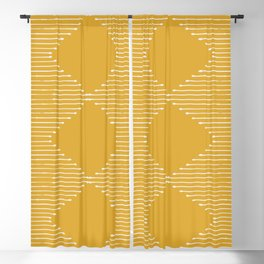 Geo / Yellow Blackout Curtain