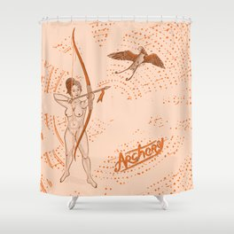 Archer naked girl (Amazons) Shower Curtain
