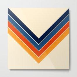 Colorful V Shape Retro Stripes Chilseongsin Metal Print