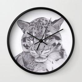 Clouded Leopard - Big Cat Wall Clock