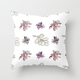 Quercus (reds) Throw Pillow