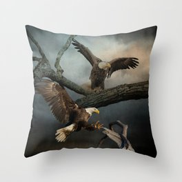Eagles Spread Their Wings Throw Pillow