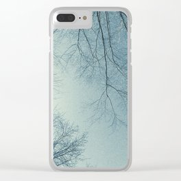 The Trees - Hazy n' Blue Clear iPhone Case