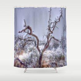 Flocked Tree Shower Curtain
