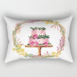 Cake Wreath Rose Pink Rectangular Pillow