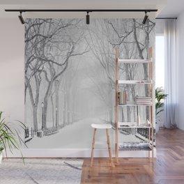 Snowy Park Wall Mural
