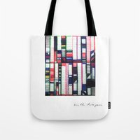 skyline Tote Bags featuring SKYLINE by Ruth Hagen
