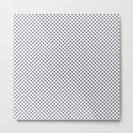 Smokey Topaz Polka Dots Metal Print