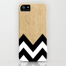 BURLAP BLOCK CHEVRON Slim Case iPhone (5, 5s)