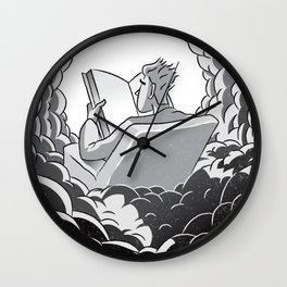 Reading book is heaven Wall Clock