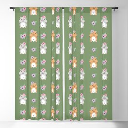 Hamster and Flower Blackout Curtain