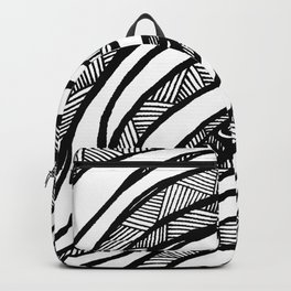Organic Black & White lines Backpack