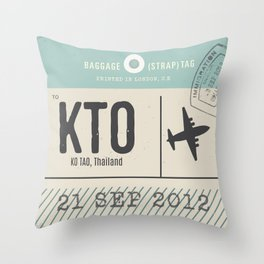Travel Tag Throw Pillow