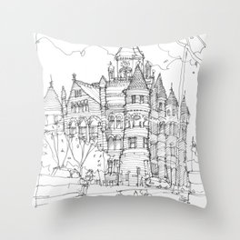 Red Museum Dallas! Throw Pillow