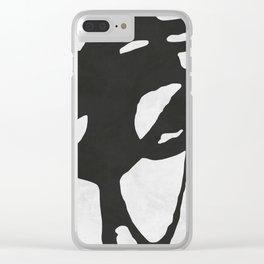 Black Expressionism XVII Clear iPhone Case