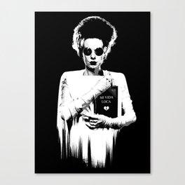 the modern bride Canvas Print