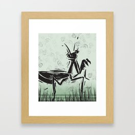 Praying Mantis by Kathy Morton Stanion Framed Art Print
