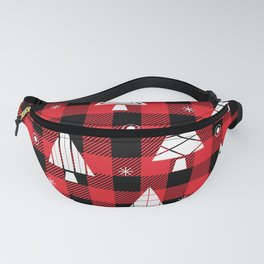 Holiday Christmas Trees (red buffalo plaid) Fanny Pack