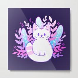Plant Cat Metal Print