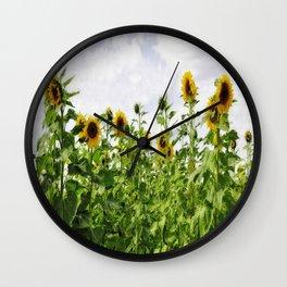 Rigby Idaho - Reaching For The Sun Wall Clock