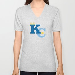 Kansas City Sports Double Blue Unisex V-Neck