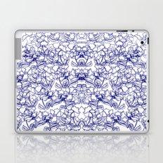 Blue Wild Flowers Laptop & iPad Skin