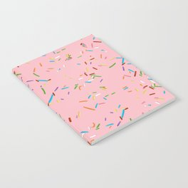 Pink With a Chance of Sprinkles - Colorful Pattern Notebook