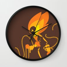 The Ghost Who Rides Wall Clock
