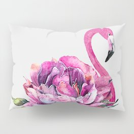 Flower Flamingo Pillow Sham