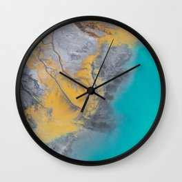 Turquoise World Wall Clock