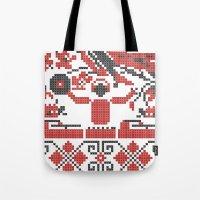 deadmau5 Tote Bags featuring Ethno DJ by Sitchko Igor