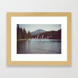 mountain wanderlust Framed Art Print