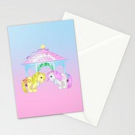 g1 my little pony snuzzle and butterscotch Stationery Cards