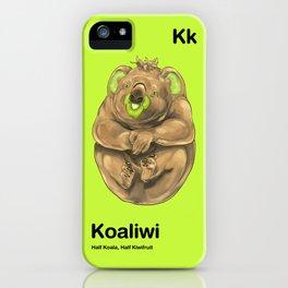 Kk - Koaliwi // Half Koala, Half Kiwifruit iPhone Case