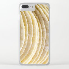 yellow potato chips Clear iPhone Case
